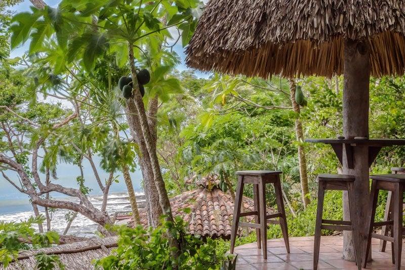 patio view of ocean