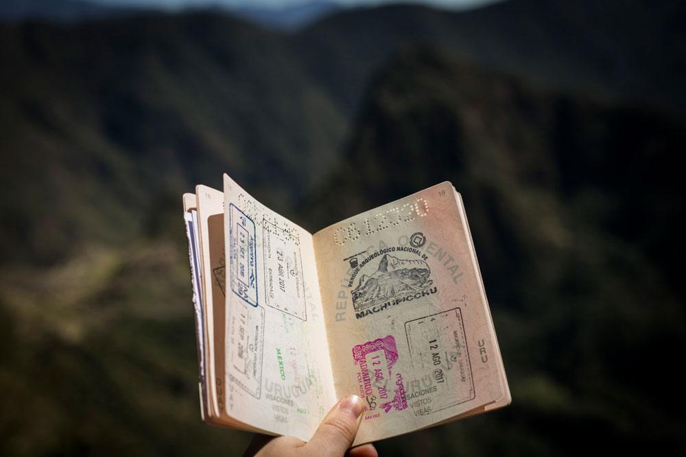passport woman traveling